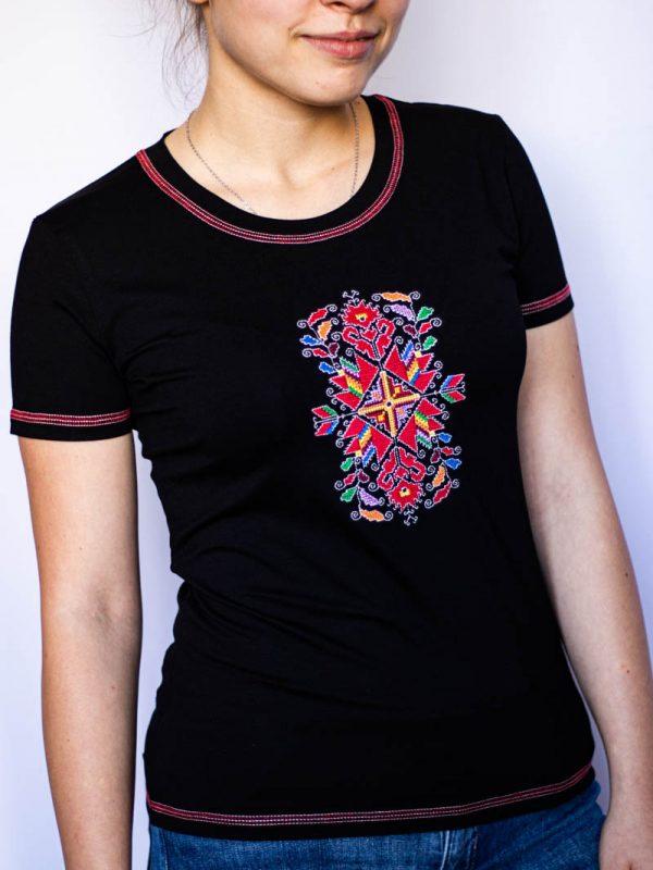 Черна тениска Лазарка